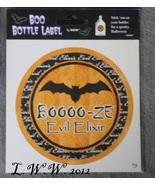 1 BOOOO-ze Evil Elixir Potion Bottle Drink Wine Beer Beverage Soda Pop L... - $1.50