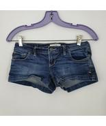 Abercrombie & Fitch Medium Wash Stretch Denim Mini Shorts Size 00 - $16.78