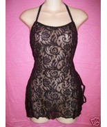 Fantasy Lingerie Sexy Lace Chemise, G-String: Small Medium Large - $28.95