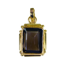 charming Smoky Quartz Gold Plated Brown Pendant Fashion common US - $5.93