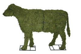 """Cow 34"""" and 85"""" Moss Topiary Sculptures - $256.99+"""