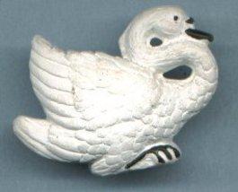 Ceramic Swan Bead - $5.00