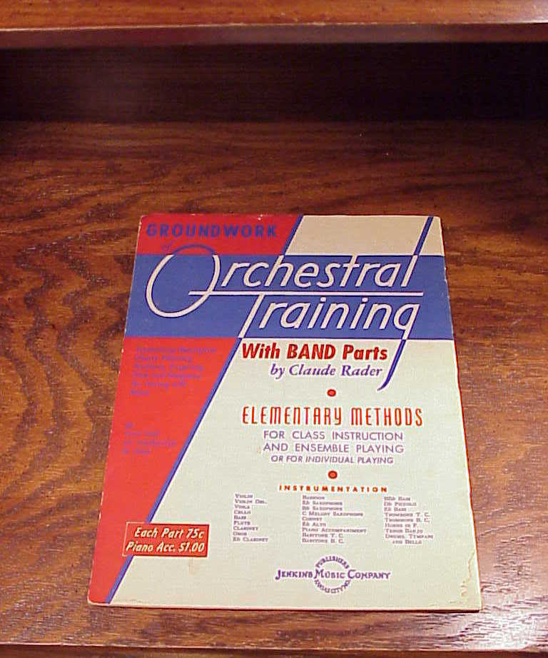 1930 Foundation to Band Playing Method Book for Alto Sax