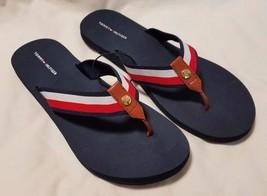 Tommy Hilfiger Women's Flag Spellout Logo Print Flip-Flop Sandals Size 6... - €23,80 EUR