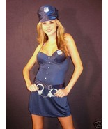 Jolie Lingerie Sexy 4 Piece Blue New York Police Costume: M, L - $31.95