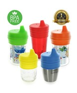 Healthy Sprouts Silicone Sippy Lids 5 Pack - Lab Tested, Spill Proof, BP... - $19.55