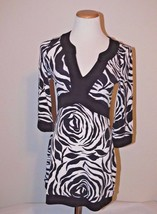 White House Black Market WHBM Floral Tunic Top Dress Size XS dg - $24.99