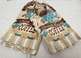 "SET OF 2 SAME COTTON PRINTED TERRY KITCHEN TOWELS(15""x25"")RISE & SHINE C... - $13.85"