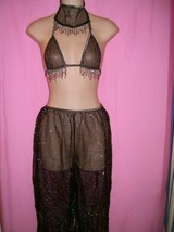 Tease Bodywear Lingerie Sexy Harem - Belly Dancer Costume 3 Piece Set: O... - $38.99