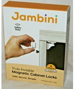 Jambini Truly Invisible Magnetic Cabinet Drawer Baby Child Safety Locks ... - $12.30