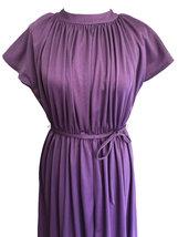70s Lavender Plum Heather Grecian Style Ruched Draped Tunic Raglan Kimono Sleeve image 3