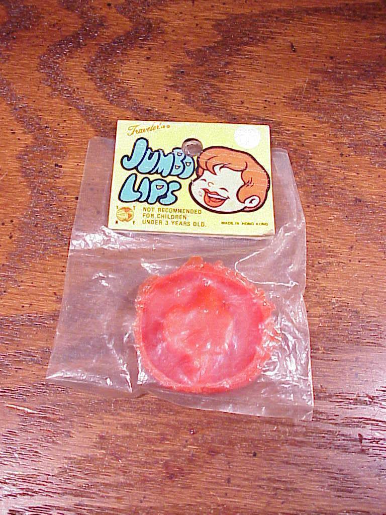 Novelty Rubber Jumbo Lips, made by Traveler's, Hong Kong