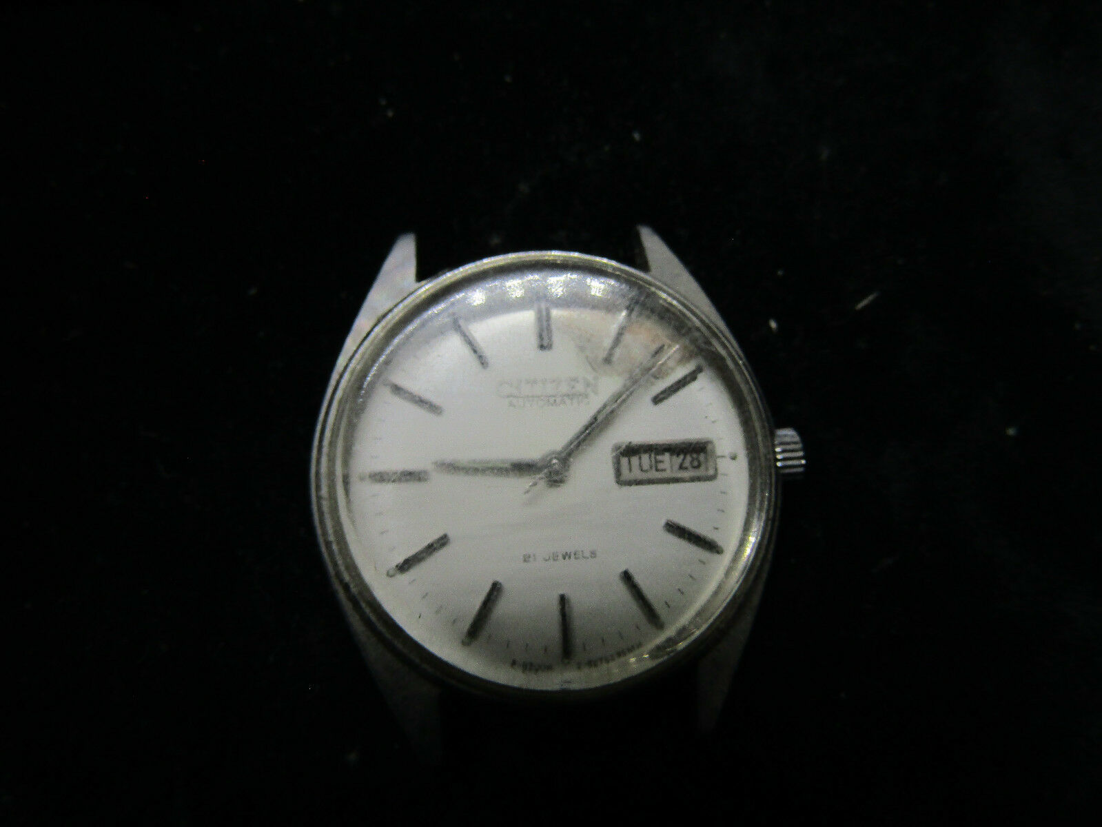 Primary image for 1981 CITIZEN 21 JEWEL AUTOMATIC WATCH FOR YOU TO REPAIR DIAL OR FOR PARTS