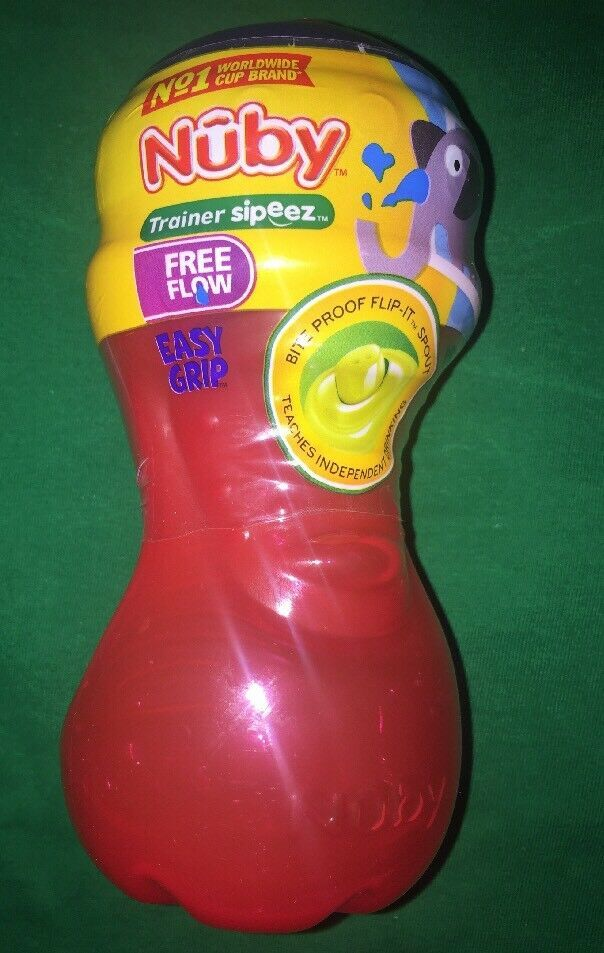 Primary image for NEW Nuby Trainer Sipeez Cup Easy Grip No Spill BPA Free Red Blu Free-flow 6mth+