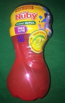 NEW Nuby Trainer Sipeez Cup Easy Grip No Spill BPA Free Red Blu Free-flo... - $6.93