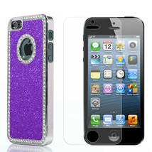 Luxury Sparkly Diamond Glitter Bling Hard Case For iPhone 5 5s + Stylus ... - £4.12 GBP