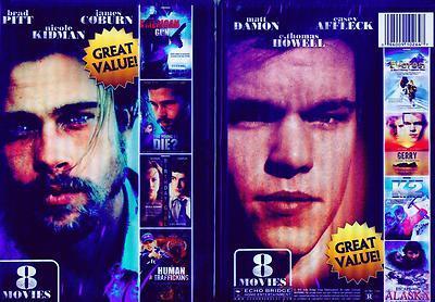 ACTION THRILLER: Brad Pitt-Nicole Kidman- Matt Damon- 8 Films- NEW DVD's