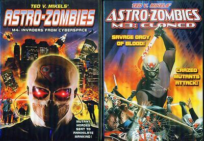 ASTRO ZOMBIES 3-4: 3M Cloned & M4 Invaders from Cyberspac-Ted V Mikels NEW 2 DVD