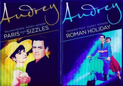 AUDREY HEPBURN: Paris When Sizzles + Roman Holiday - Holden + Peck - NEW 2 DVD