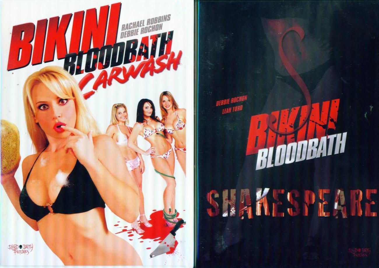 BIKINI BLOODBATH: Shakespeare &  Carwash /Debbie Rochon NEW 2 DVD