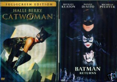 CATWOMAN & BATMAN RETURNS: Halle Berry+ Michelle Pfieffer- NEW 2 FS DVD