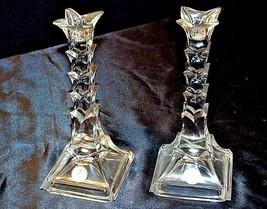 Heavy LEAD Crystal Candlesticks AA18-11914 Vintage USA