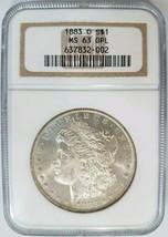 1883 O Silver Morgan Dollar NGC MS 63 DPL Deep Mirrors Proof Like PL DMPL - $294.99