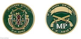ARMY MP MILITARY POLICE ASSIST PROTECT DEFEND CHALLENGE COIN - $16.24
