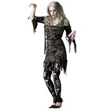 Zombie Living Dead Adult Womens Halloween Party Costume SM MED 2-8 New - $24.70