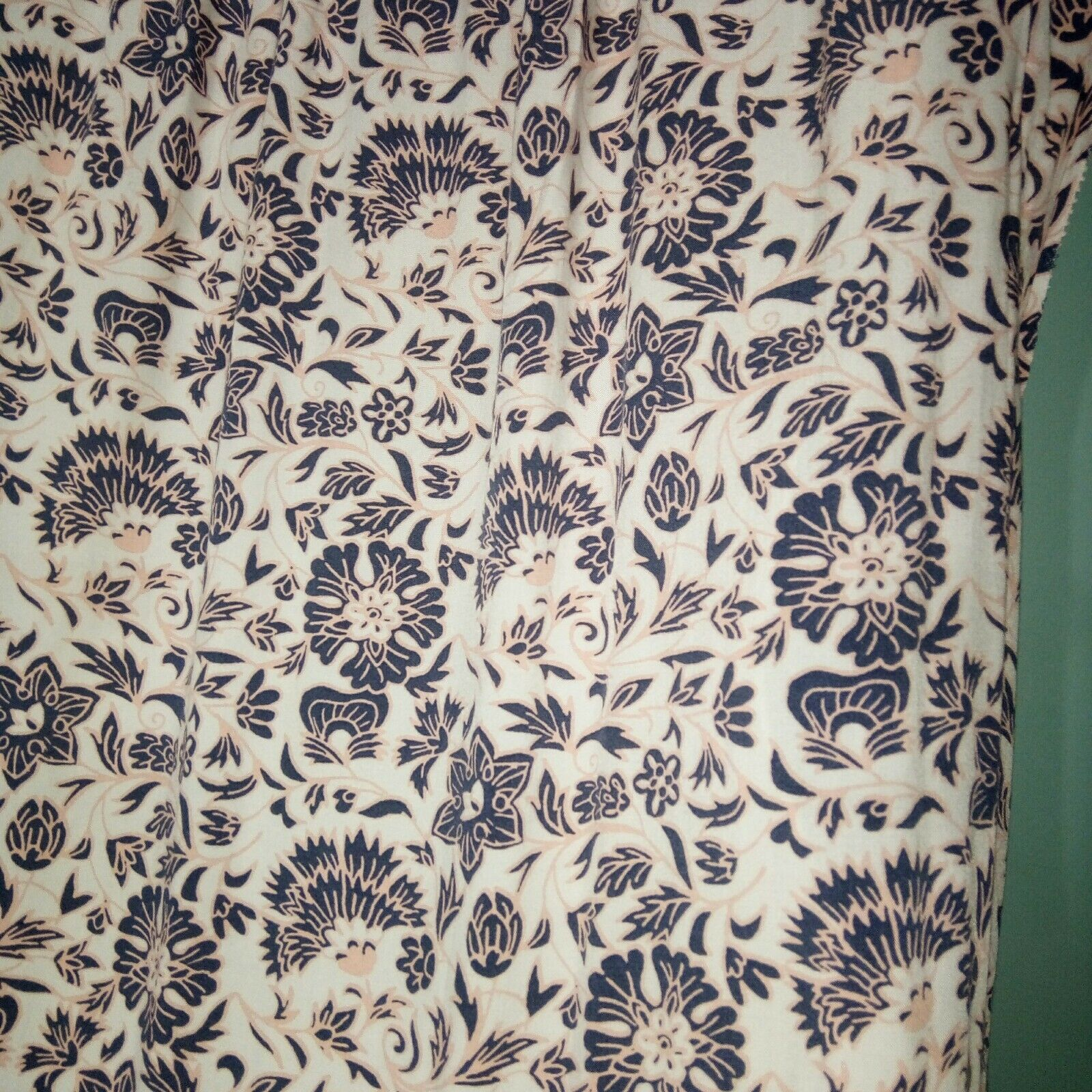 Ann Taylor LOFT Women's Dress Rayon  Floral Button Front Short Sleeve Size M