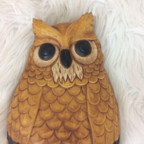 "Vintage Homco Owl Wall Hanger Art 1976 10"" H x 6.25"" W"