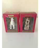 Lot of 2-CHRISTMAS ORNAMENTS Terrier & Beagle Limited Ed. Collectors ser... - $13.96