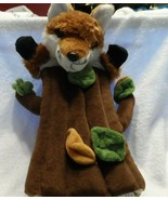 adorable plush fox in a tree stump puppet - $12.00