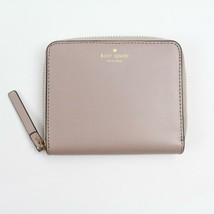 Kate Spade Wallet 100% Leather Travel Light Pink Gray Full Zip Brass Pas... - $65.33