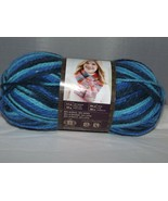 Lion Brand Color Waves #203 Deep Blue Sea 3.5 oz 100 g 306 yd Acrylic Wo... - $7.82