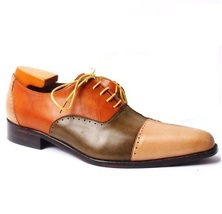 Mens Brown Sole Multi Color Cap Toe Handcrafted Leather Customized Premium Shoes - $139.90+