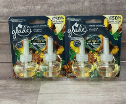 Lot of 2- Glade Sultry Amber Rhythm Plugins Scented Oil Refills 2 Twin P... - $18.39