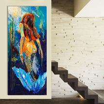 Wall Art Mermaid Oil Painting Home Decor Canvas Pictures For Living Room    - $14.00+