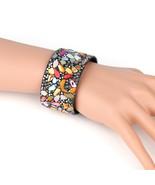 UNITED ELEGANCE Colorful Cuff Wristband With Stones & Swarovski Style Cr... - $11.99
