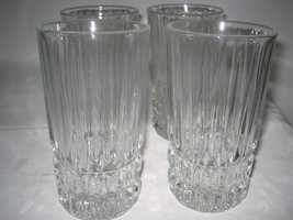 "4 Fostoria Heritage High Ball Glasses 5 1/2"" H  good conditions - $21.99"