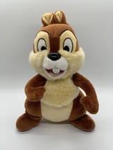 Disney World Plush CHIP Chipmunk Stuffed Animal Brown Tan Lovey Toy Disn... - $8.42