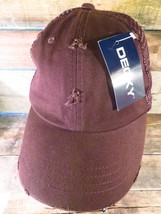 Decky Chocolate Brown Plain Distressed New Nwt Snapback Adult Hat Cap - $9.89