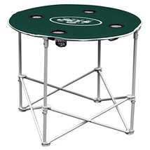 New York Jets  Collapsible Round Table with 4 Cup Holders and Carry Bag - $47.00