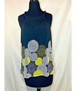 A.N.A Sleeveless Floral Halter Tank Top Career Wear Size Small - $28.00