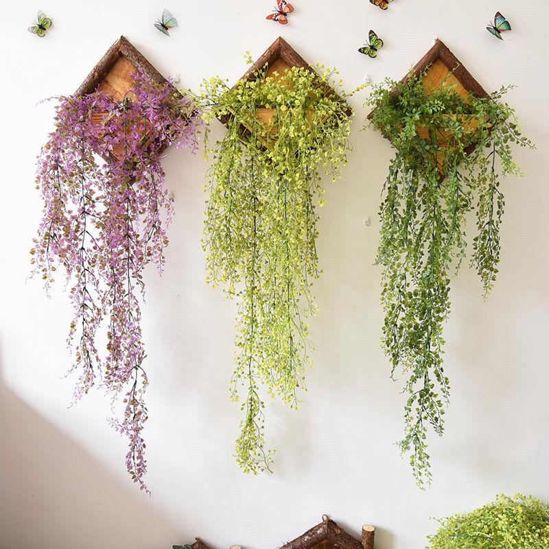 Hanging Frame Wooden Flower Pot Square Wood Storage Garden Basket Wall Decor 1pc