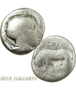 Lucania, Thourioi. ATHENA Helmeted, Bull. Ancient Greek Silver Coin Triobol - $116.10