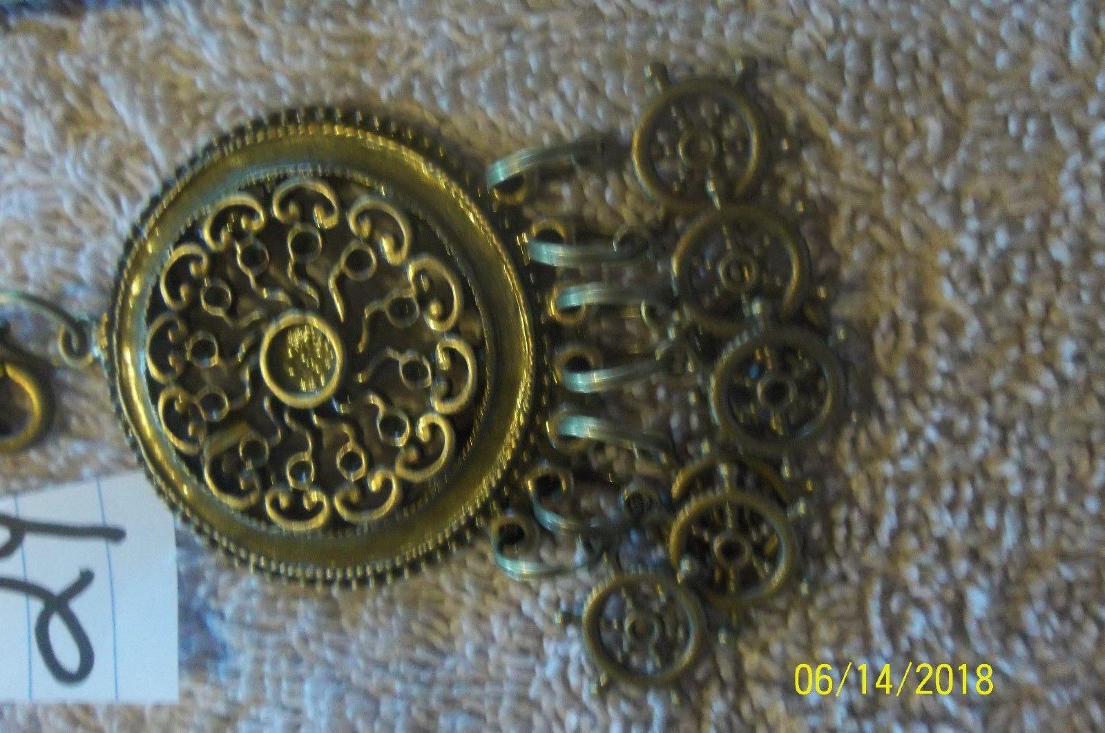 # purse jewlrey bronze color keychain backpack filigree dangle charms #24 image 3
