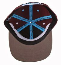 Flat Fitty On And Popin Burgundy Carolina Blue SnapBack Baseball Cap Hat NWT image 6