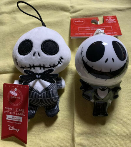 Primary image for Hallmark Nightmare Before Christmas Jack Skellington Ornament Shatterproof Plush