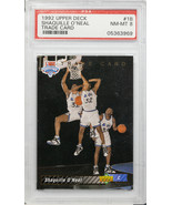 1992-93 UPPER DECK SHAQUILLE O'NEAL TRADE CARD PSA NEAR MINT 8 #1B (MR) - $197.99